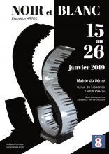 EXPOSITION NOIR ET BLANC MAIRIE DU 8ème PARIS-ARTEC