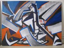 acrylique et sable sur toile - ARTEC