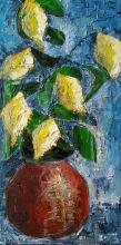 Citronnier sur fond bleu - ARTEC