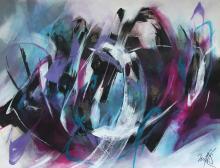 """""""COULEUR POURPRE"""" - Acrylique sur papier - ARTEC"""